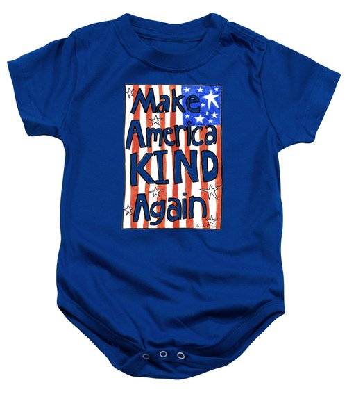Make America Kind Again Baby Onesie