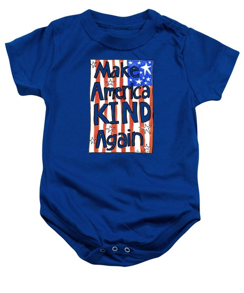 Make America Kind Again Baby Onesie