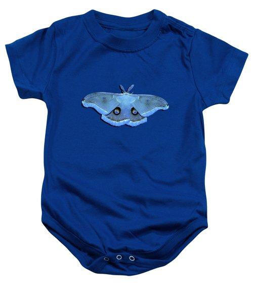 Male Moth Light Blue .png Baby Onesie