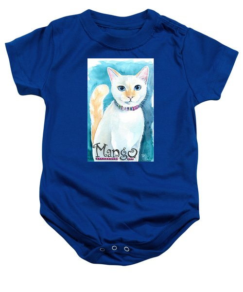Mango - Flame Point Siamese Cat Painting Baby Onesie