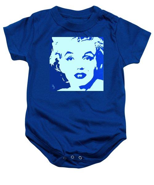 Marilyn Monroe Blue Pop Art Portrait Baby Onesie