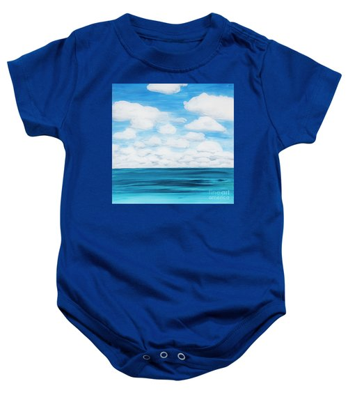 Marine Layer Breaking Up Baby Onesie