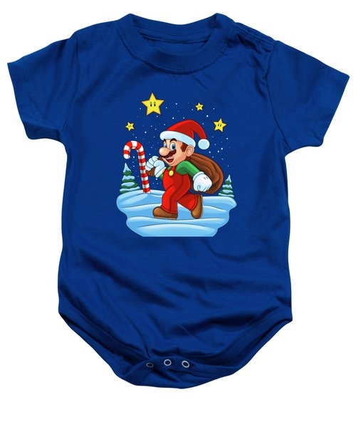 Mario Xmas Baby Onesie