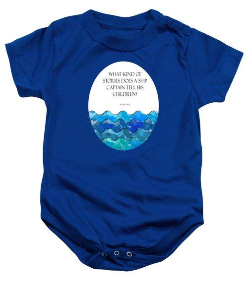 Maritime Humor For A Nursery Room Baby Onesie