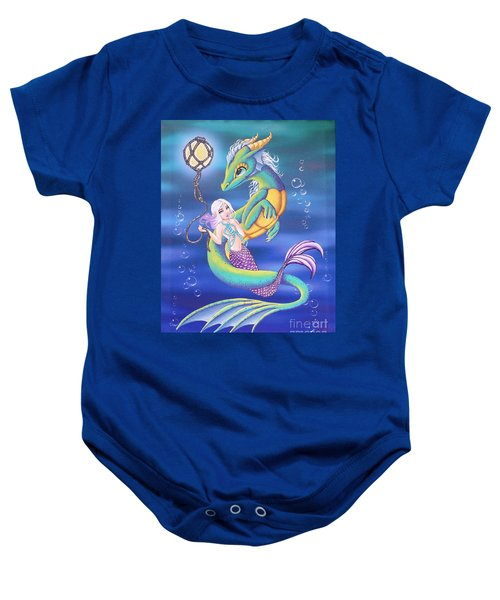 Mermaid And Sea Dragon Baby Onesie