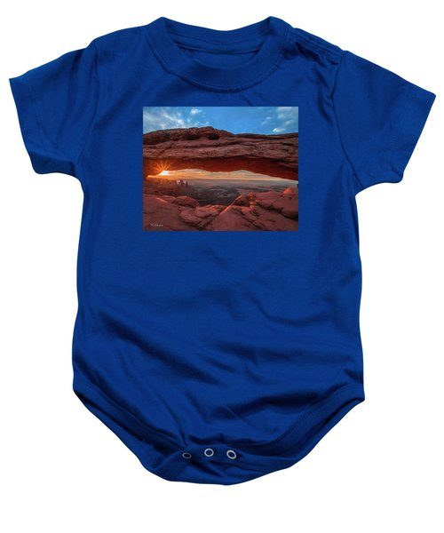 Mesa Arch At Sunrise 3, Canyonlands National Park, Utah Baby Onesie