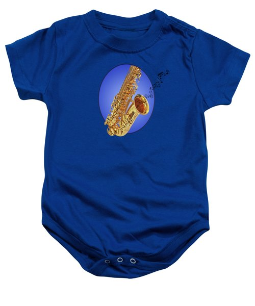 Midnight Blues Baby Onesie by Gill Billington