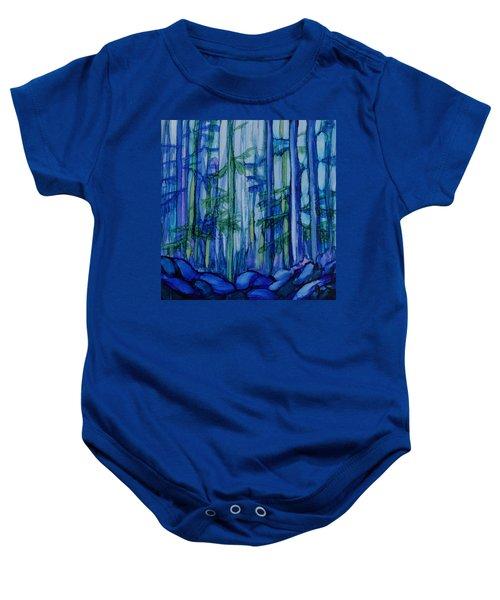 Moonlit Forest Baby Onesie