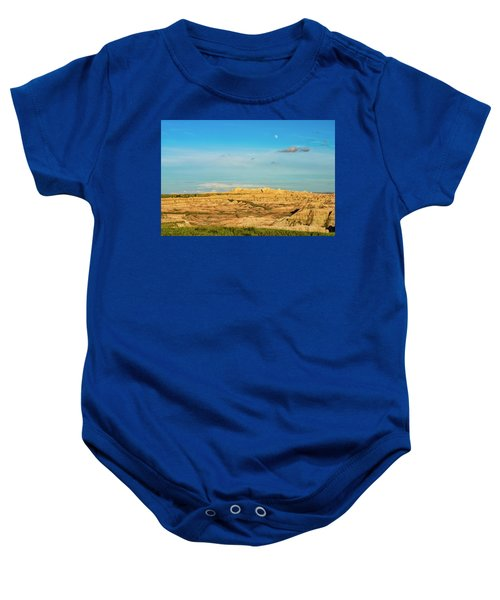 Moon Over The Badlands Baby Onesie
