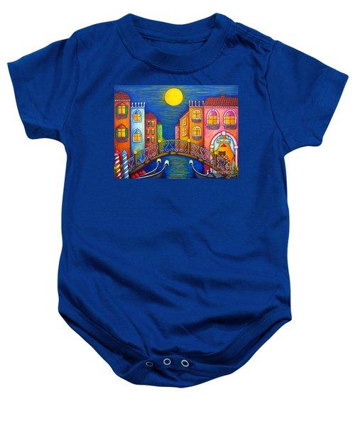 Moonlit Venice Baby Onesie