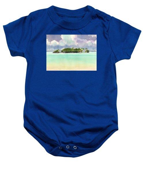 Motu Rapota, Aitutaki, Cook Islands, South Pacific Baby Onesie