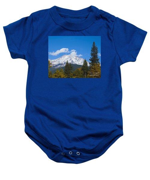 Mount Shasta California Baby Onesie