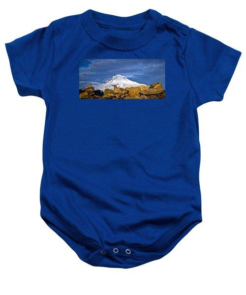 Mt Hood With Talus Baby Onesie