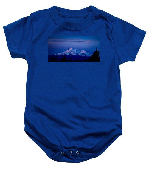 Mt Shasta At Sunrise Baby Onesie