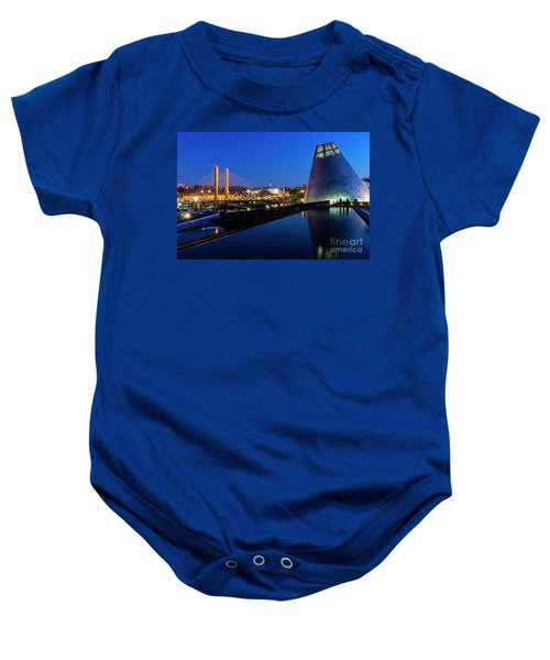 Museum Of Glass At Blue Hour Baby Onesie