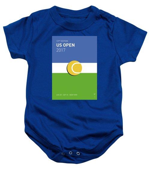 My Grand Slam 04 Us Open 2017 Minimal Poster Baby Onesie