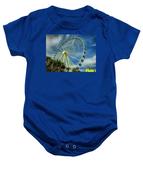 Myrtle Beach Skywheel Baby Onesie by Bill Barber