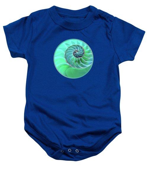 Nautilus Aqua Spiral Baby Onesie