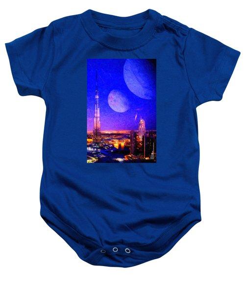 New Dubai On Tau Ceti E Baby Onesie