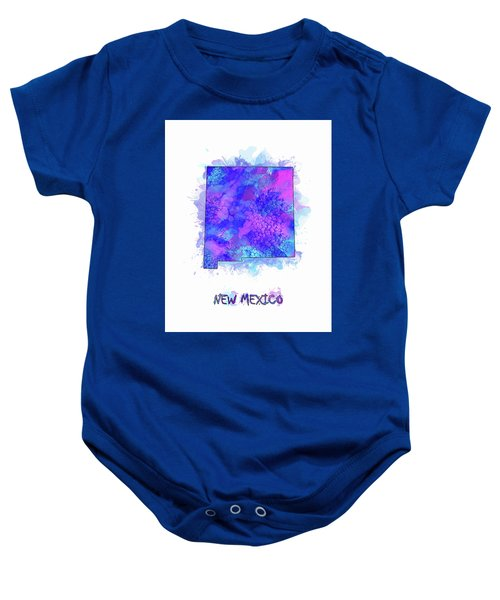 New Mexico Map Watercolor 2 Baby Onesie