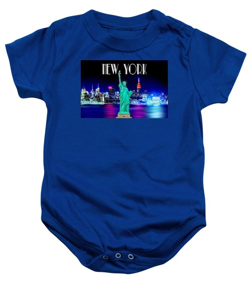 New York Shines Baby Onesie by Az Jackson
