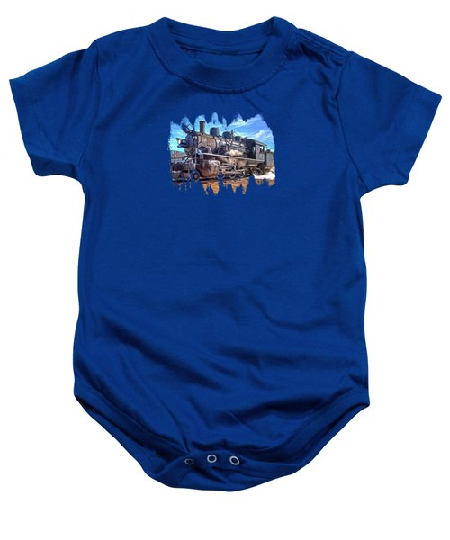 No. 25 Steam Locomotive Baby Onesie