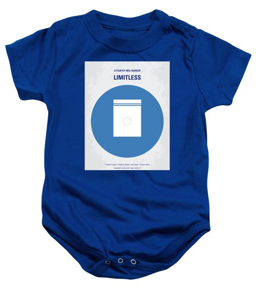 No828 My Limitless Minimal Movie Poster Baby Onesie
