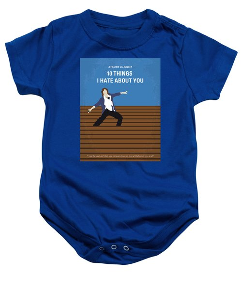 No850 My 10 Things I Hate About You Minimal Movie Poster Baby Onesie