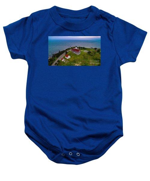 Nobska Point Lighthouse Baby Onesie