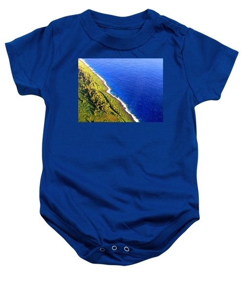 North Coast Of Tinian At Sunrise Baby Onesie