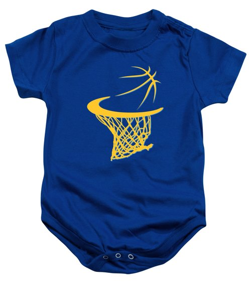 Nuggets Basketball Hoop Baby Onesie