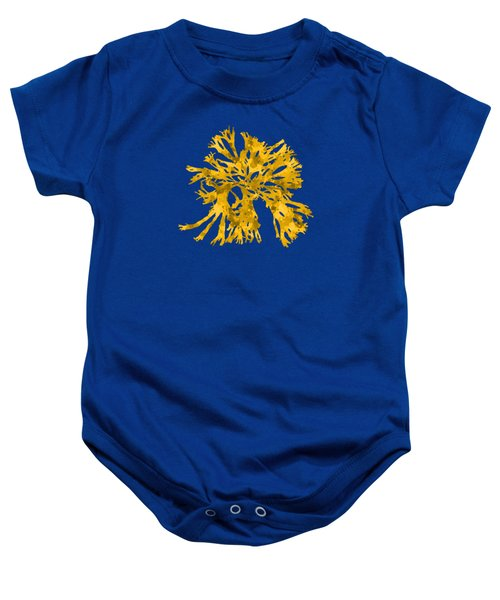 Baby Onesie featuring the mixed media Ocean Seaweed Plant Art Rhodomenia Sobolifera Square by Christina Rollo