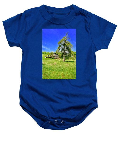 Old Barn, Smith Mountain Lake Baby Onesie