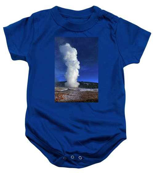 Old Faithful In Winter Baby Onesie