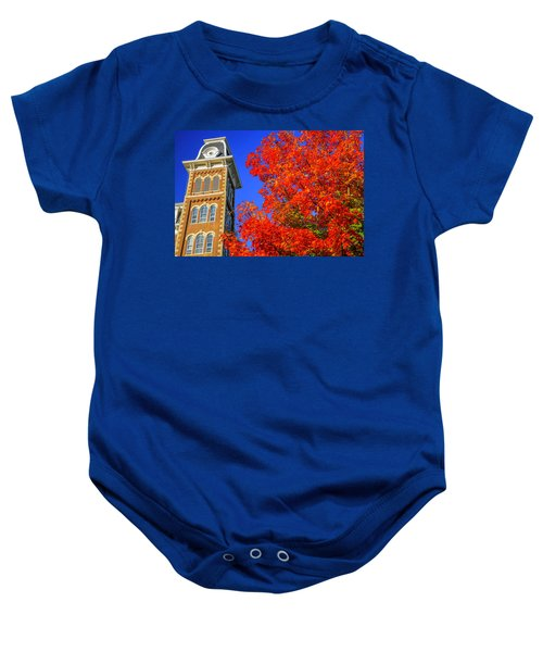 Old Main Maple Baby Onesie by Damon Shaw
