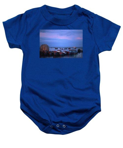 Old Port Of Nha Trang In Vietnam Baby Onesie