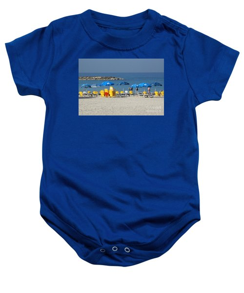 On The Beach-tel Aviv Baby Onesie