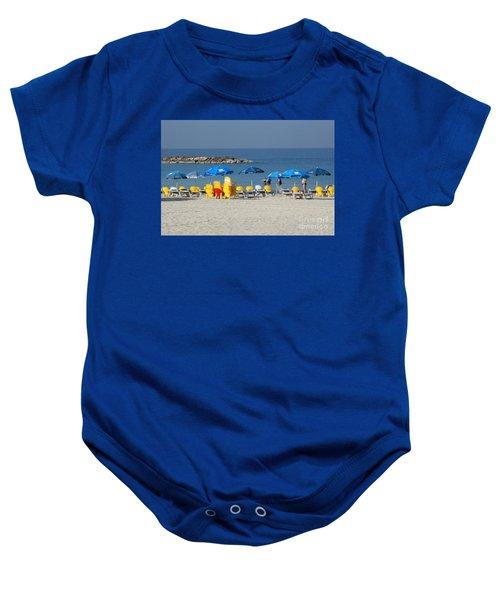 On The Beach-tel Aviv Baby Onesie