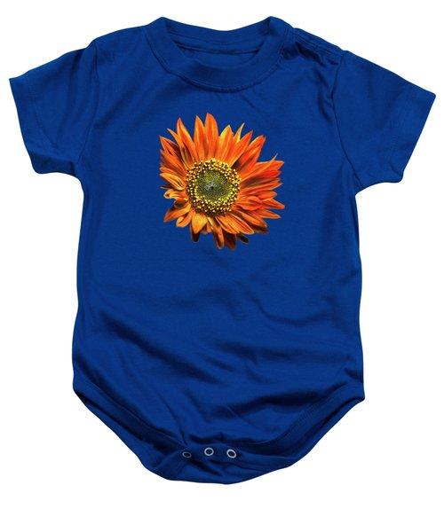 Orange Sunflower Baby Onesie