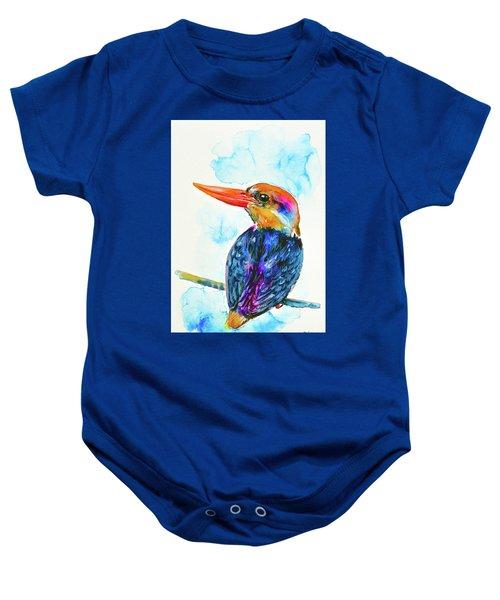 Oriental Dwarf Kingfisher Baby Onesie