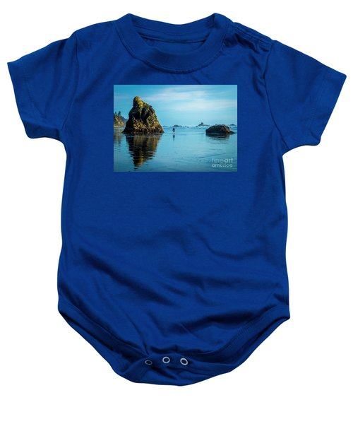 Outing In Ruby Beach,wa Baby Onesie