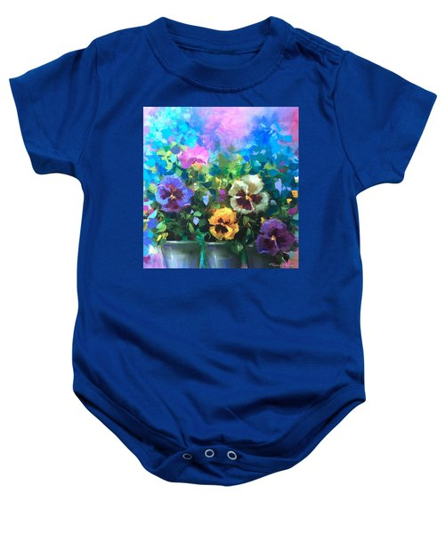Pansy Dance Baby Onesie