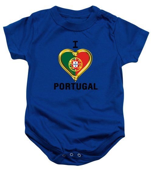 Parchment Background I Heart Portugal Baby Onesie