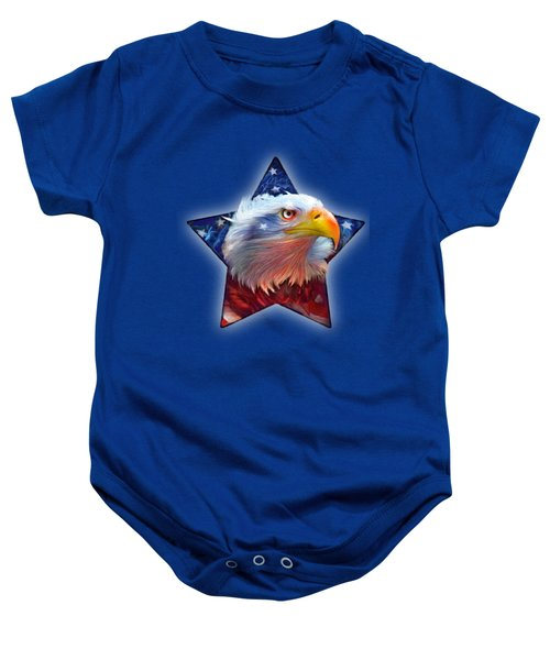 Patriotic Eagle Star Baby Onesie