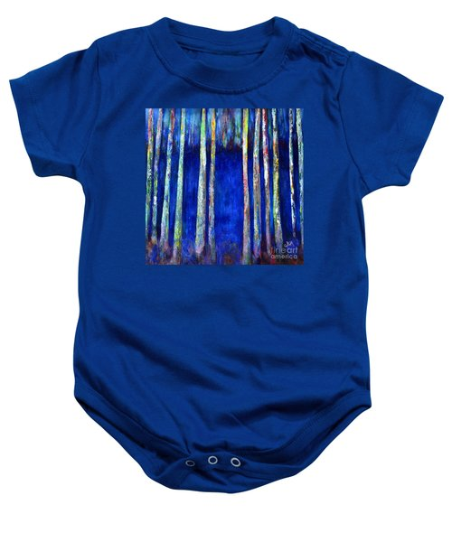 Peeking Through The Trees Baby Onesie