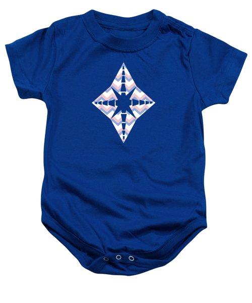 Pink Blue Chevron Pattern Baby Onesie