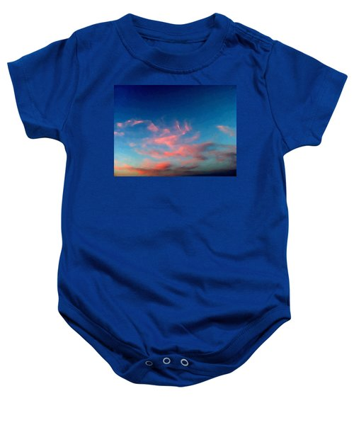 Pink Clouds Abstract Baby Onesie