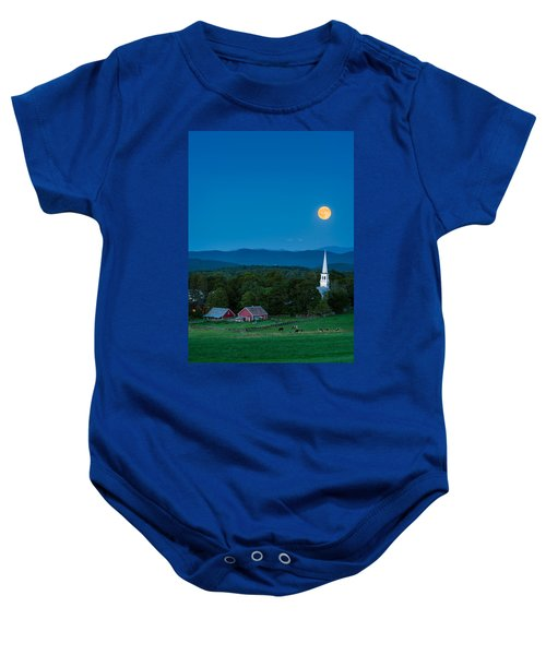 Pointing At The Moon Baby Onesie