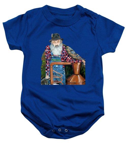 Popcorn Sutton Moonshiner - Tshirt Transparent Torso Baby Onesie