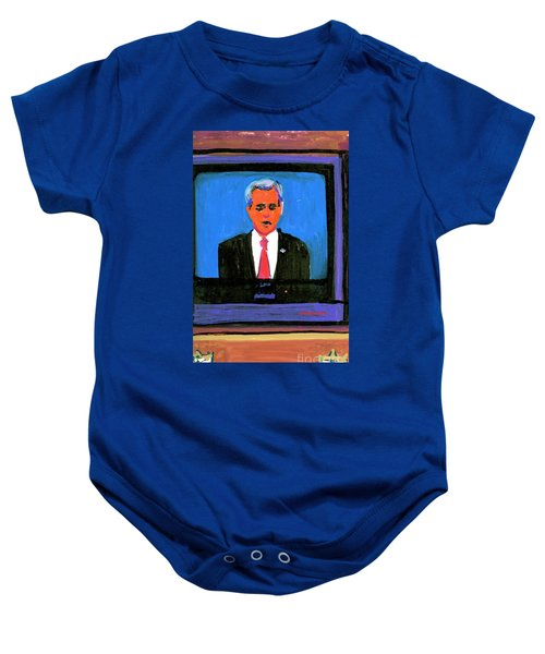 President George Bush Debate 2004 Baby Onesie by Candace Lovely